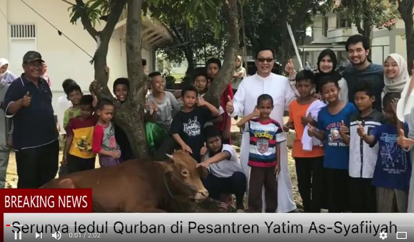 merayakan Iedul Qurban bersama Yatim