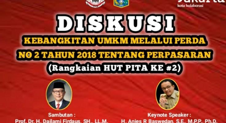 Rangkaian HUT Ke 2 PITA Mengadakan Diskusi Virtual Perda No 2/2018 Tentang Perpasaran