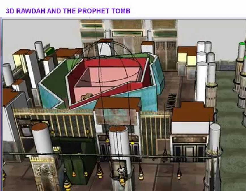 VIDEO: 3D KUBUR NABI MUHAMMAD SAW & RAUDHAH