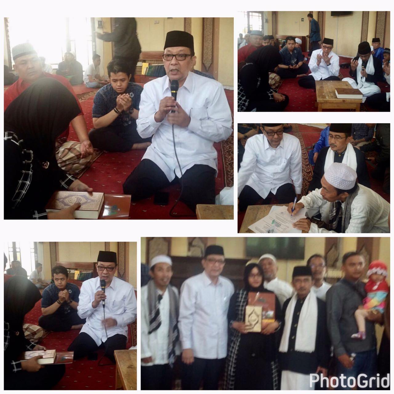 Menjadi Saksi masuk Islamnya Junit Hotmalia di UIA